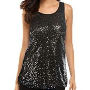 NWOT A/X Sequined Tank Top Sz XS